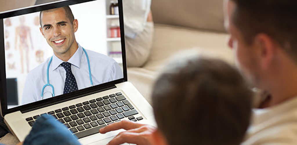 Health Alliance Network Telemedicine Session on a Laptop Computer